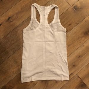 Lululemon swiftly tank, white, size 6